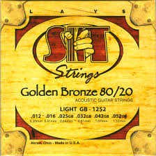 Light Guitar Strings by S I T Light Guitar Strings Golden Bronze Gb 1252