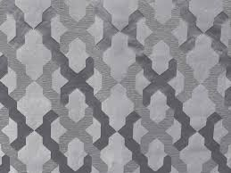 gray u0026 silver geometric trellis curtain fabric by the yard