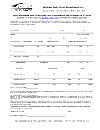 generic credit application template registration of wholesale car dealer license and credit