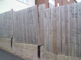 fence attached to garden wall fencing job in nuneaton