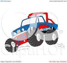 mud truck clip art royalty free rf clipart illustration of a blue and red monster
