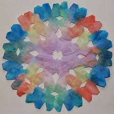 super simple and beautiful water colour coffee filter snowflake