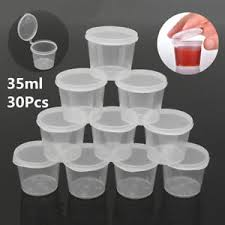 Cup Storage Containers - 35ml 30 set small plastic sauce cups food storage containers clear