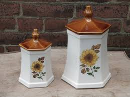 Sunflower Canister Sets Kitchen 28 Sunflower Canisters For Kitchen Oneida Vintage Labels