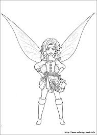 pirate fairy coloring picture crayons included