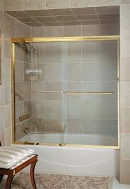 Brass Shower Door Sea Of Glass And Mirrors Shower Doors Products Services In