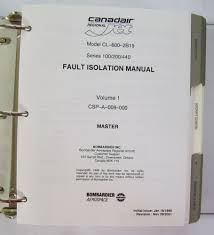 canadair jet fault isolation manual 100 200 440 2 vols ebay