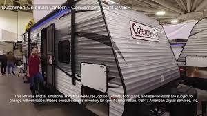 coleman travel trailers floor plans dutchmen coleman lantern conventional east 274bh youtube