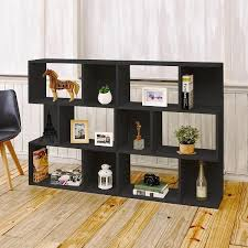 Black Book Shelves by Modern 3 Shelf Bookcase And Room Divider In Black Wood Grain Way