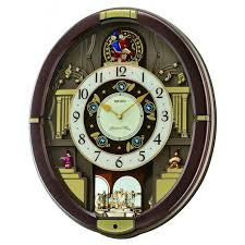 melodies in motion danube musical wall clock qxm488brh seiko