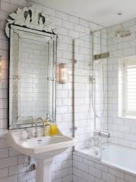 subway tile bathroom colors grey contemporary granite countertop