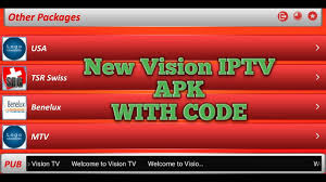 vision apk new vision iptv apk with code