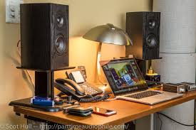 Studio Monitors On Desk by The Guttenberg Challenge Affordable Loudspeakers From Dayton