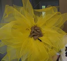 Sunflower Mesh Wreath Diy Sunflower Wreath Youtube