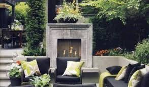 Outdoor Fireplace Designs - standout concrete outdoor fireplace designs