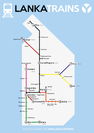 Map Of Sri Lanka Sri Lanka Trains Map And Schedule Yamu