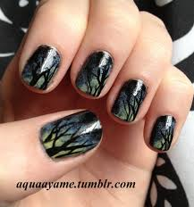 duskey trees inspired by luvablenails check her out on youtube