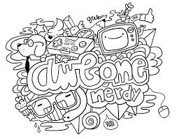 doodle art to print and color free download