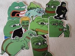 10 pcs pepe the frog funny sticker pack doodle decals luggage