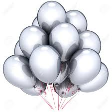 silver balloons silver balloons beautiful white marriage party decoration