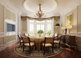 French Classic Dining Room Interior Design With Round Table Идеи - French interior design style