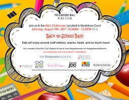 kids club back to bash the gardens mall