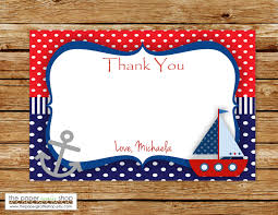nautical thank you cards ahoy it s a boy thank you card nautical thank you card ahoy