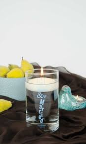 Wedding Candle Holders Centerpieces by Frosted Tumbler Wedding Candles Personalized Wedding