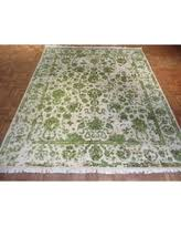 Bamboo Silk Area Rugs Sweet Deal On Shabby Chic Bohemian Ivory Beige Wool Bamboo Silk