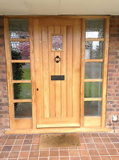 Solid Oak Exterior Doors Solid Oak Front Door With Sidelights Made To Measure Bespoke