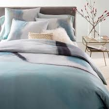 Purple And Gray Comforter Blue U0026 Purple Bedding West Elm