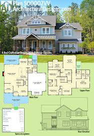 Double Master Suite House Plans Plan 500002vv 4 Bed Craftsman Beauty With Exterior Options Open