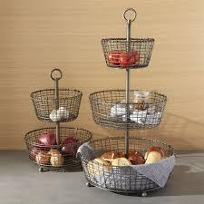 metal fruit basket bendt tiered iron fruit baskets crate and barrel