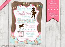 sassy cowgirl a customizable birthday invitation pony party