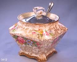 willow pattern jam pot james kent old foley balmoral pattern 5070 vintage bone china jam