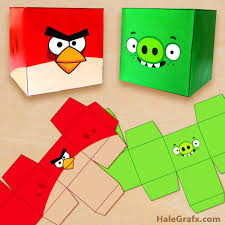 download free printable angry birds treat boxes