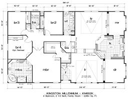 Floor Plans 4 Bedroom by Bedrooms 4 Bedroom Double Wide Mobile Home Floor Plans 2017 And