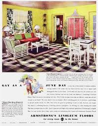 armstrong s linoleum floors as a june day vintage ads