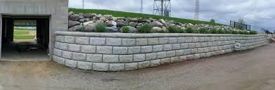 Concrete Block Garden Wall by Landscape Block Hanson Silo Company