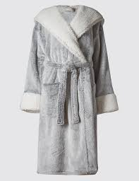 luxury hooded shimmer dressing gown m u0026s