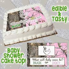 baby shower edible cake topper buck doe heart browning camouflage