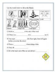 road safety worksheet by cherry warner
