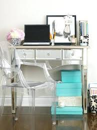 Mirrored Desks Furniture Lucite Office Chair Mirrored Desk Furniture U2013 Realtimerace Com