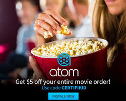 5 off your first movie ticket purchase with brand new atom app