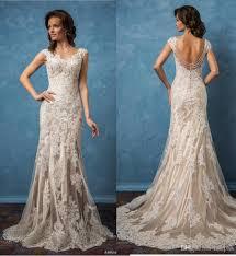 amelia sposa 2017 wedding dresses v neck backless mermaid