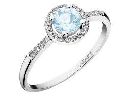 apart pierscionki pierścionek z białego złota z diamentami i akwamarynem wzór