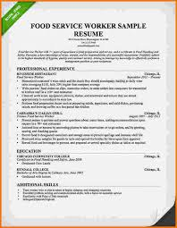 food service resume 12 food service resume sles financial statement form
