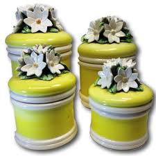 vintage ceramic kitchen canisters best vintage canister set products on wanelo