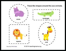 zoo animals worksheet for kindergarten worksheets preschoolers