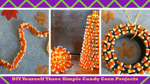 halloween candy wreath diy yourself three simple candy corn projects youtube